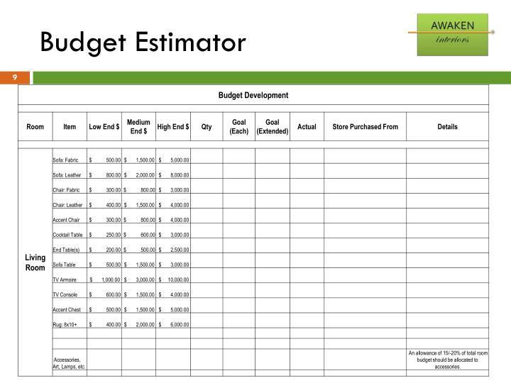 Budget Estimator
