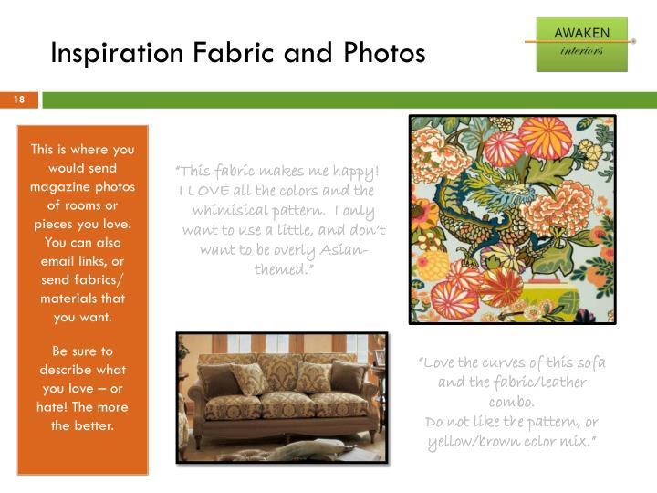 Inspiration Fabric and Photos