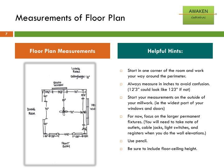 Measurements of Floor Plan