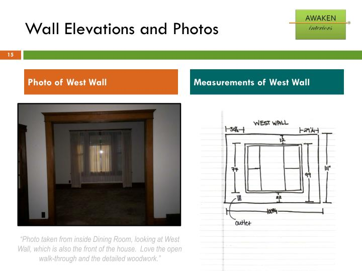 Wall Elevations and Photos