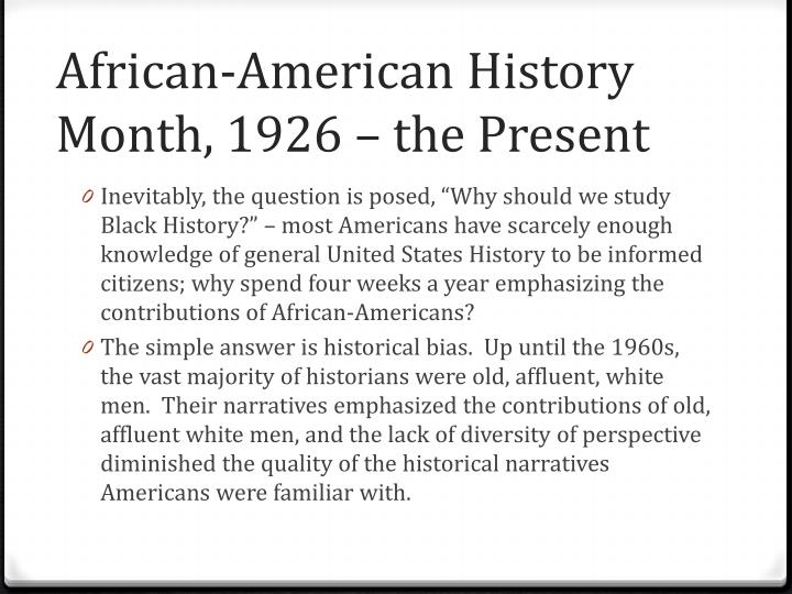 African american history month 1926 the present