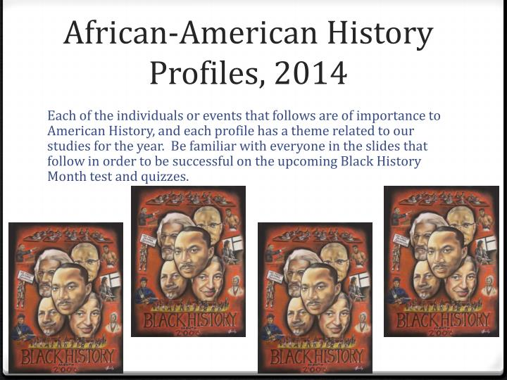 African-American History Profiles, 2014