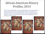 african american history profiles 2014