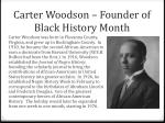 carter woodson founder of black history month