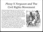 plessy v ferguson and the civil rights movement
