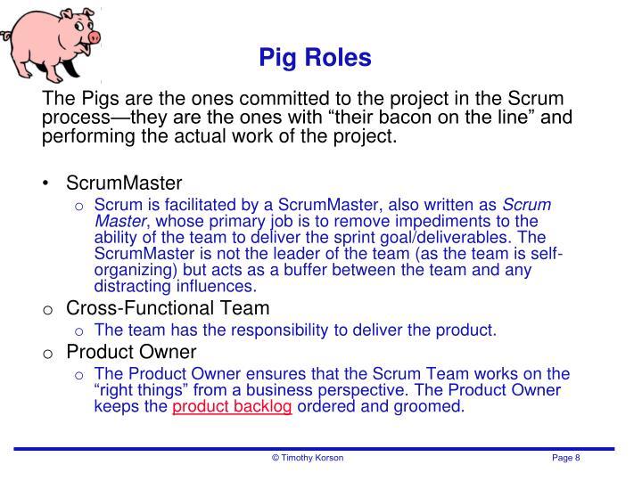 Pig Roles