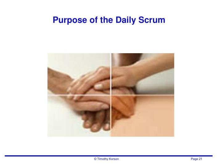 Purpose of the Daily Scrum