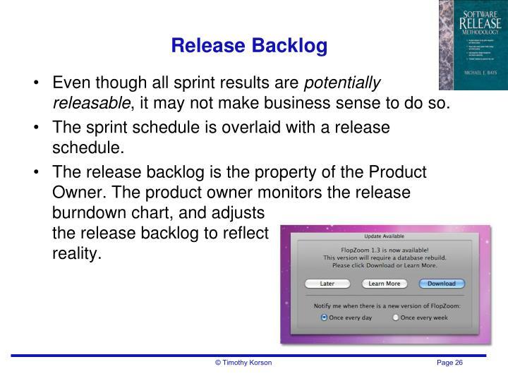 Release Backlog