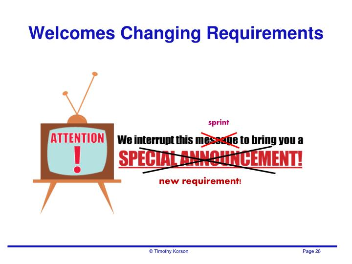 Welcomes Changing Requirements