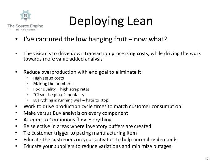 Deploying Lean