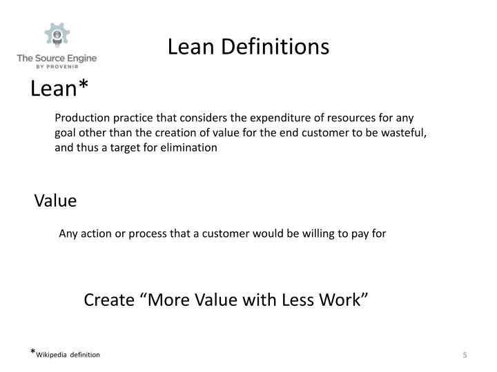 Lean Definitions