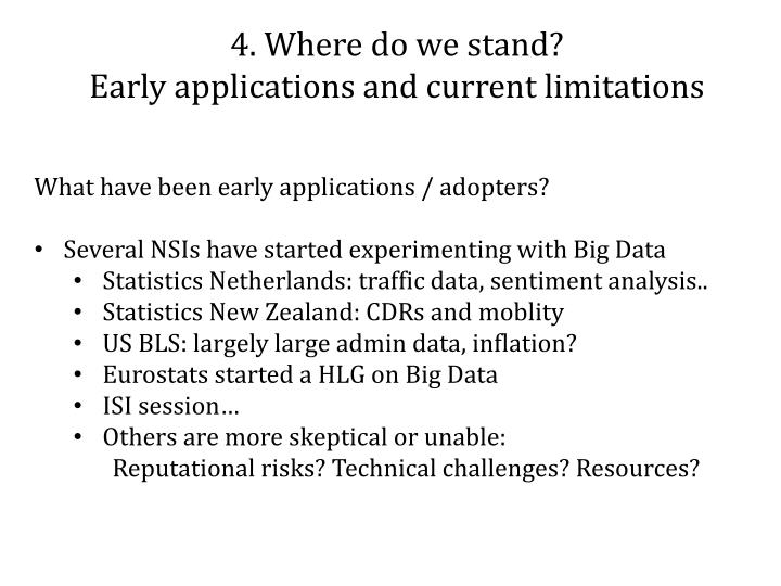 4. Where do we stand?
