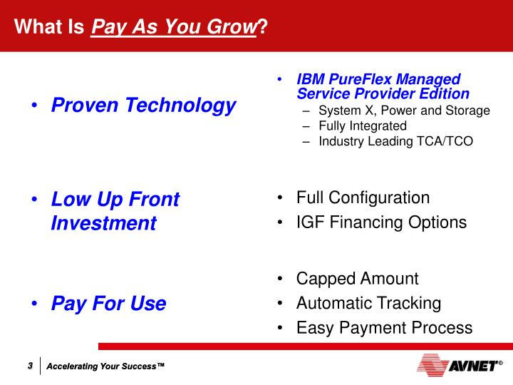What is pay as you grow