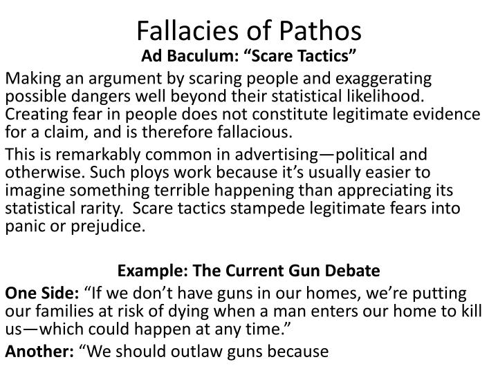 Fallacies of Pathos