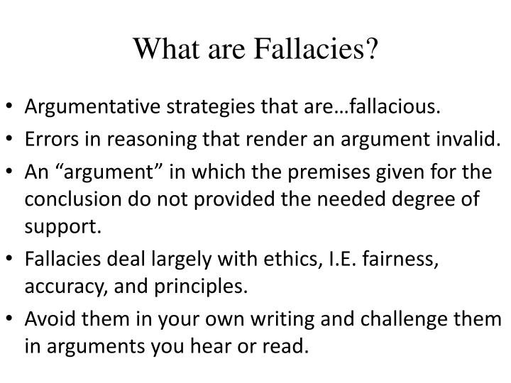 What are Fallacies?