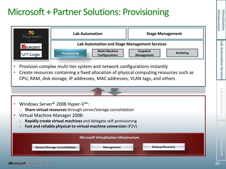 Microsoft + Partner Solutions: Provisioning