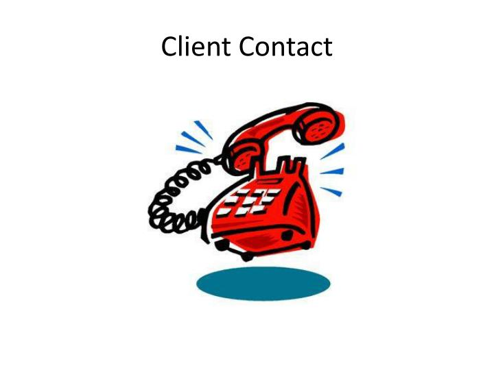 Client Contact