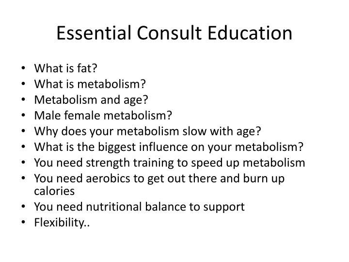 Essential Consult Education