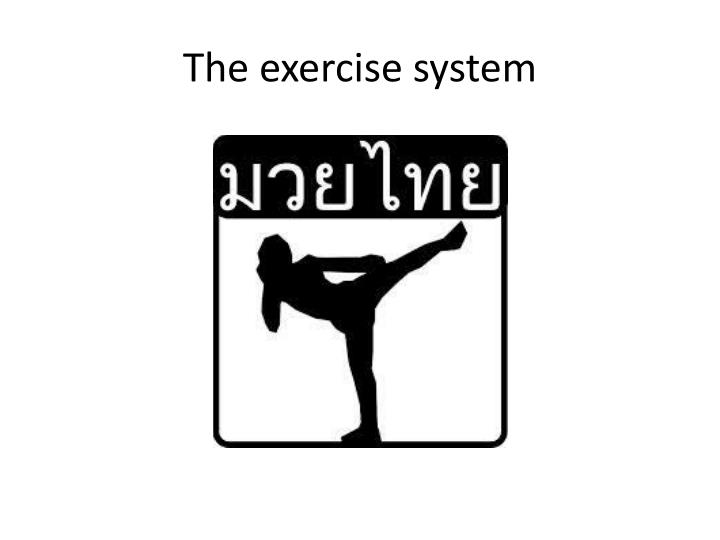 The exercise system