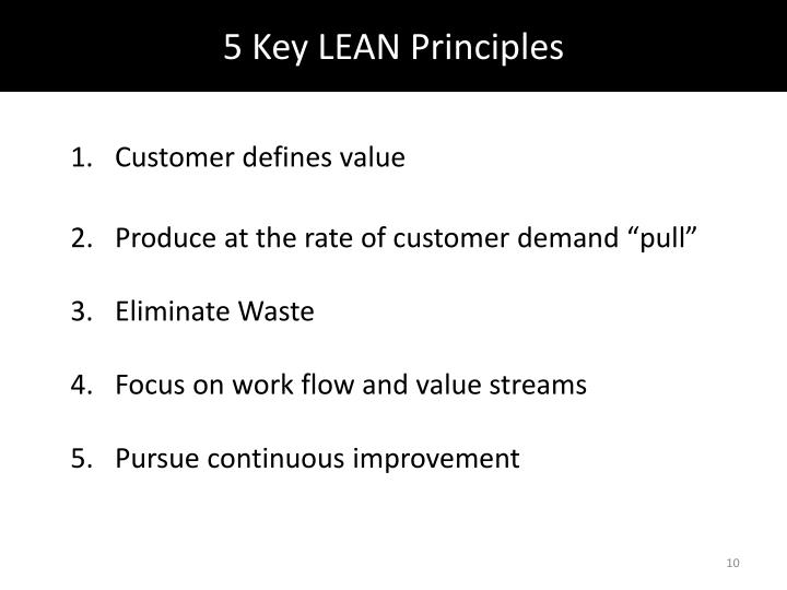 5 Key LEAN Principles