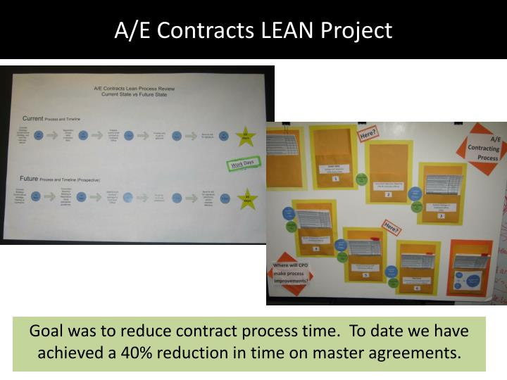 A/E Contracts LEAN Project