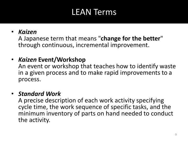 LEAN Terms