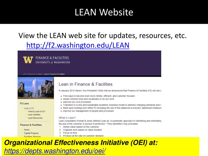 LEAN Website