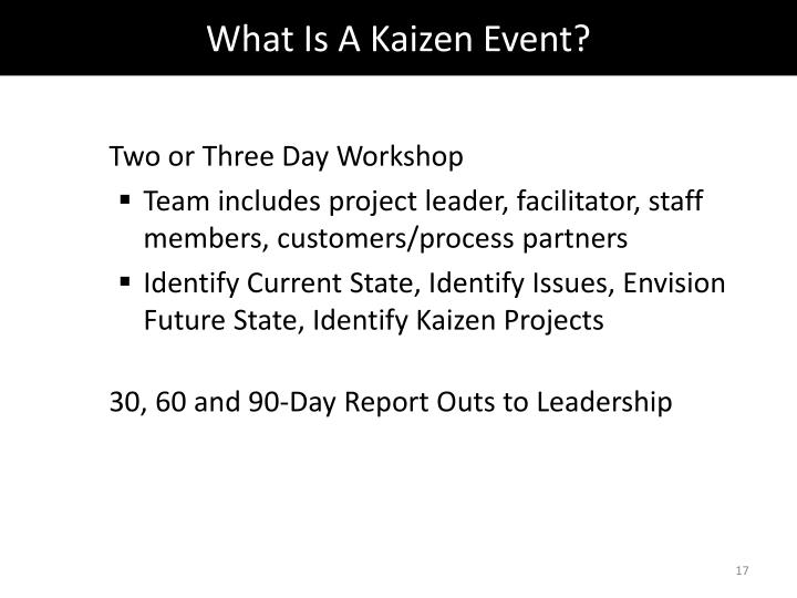 What Is A Kaizen Event?