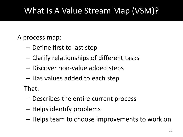What Is A Value Stream Map (VSM)?