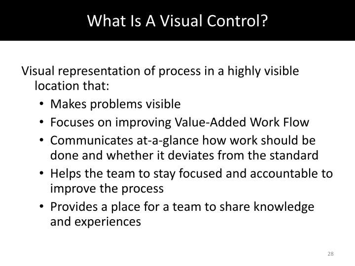What Is A Visual Control?