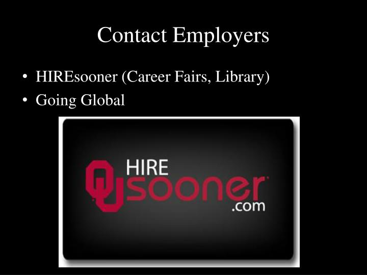 Contact Employers