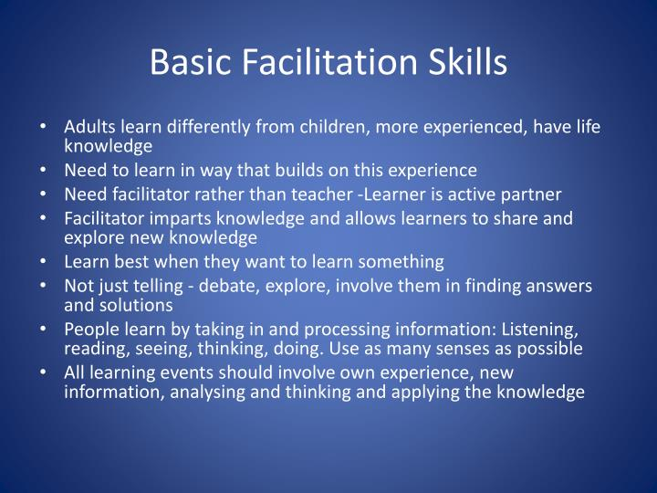 Basic Facilitation Skills