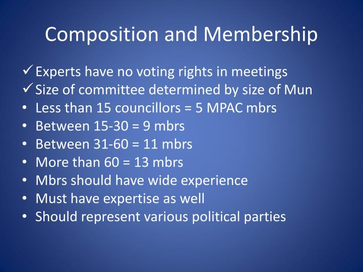 Composition and Membership