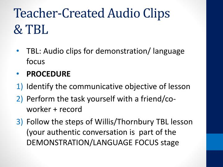Teacher-Created Audio Clips