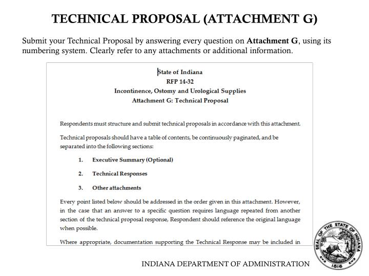 TECHNICAL PROPOSAL (ATTACHMENT G)