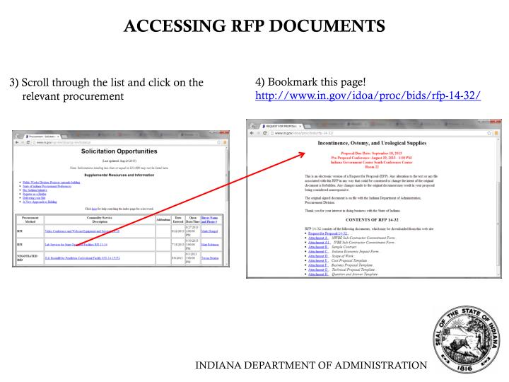 ACCESSING RFP DOCUMENTS