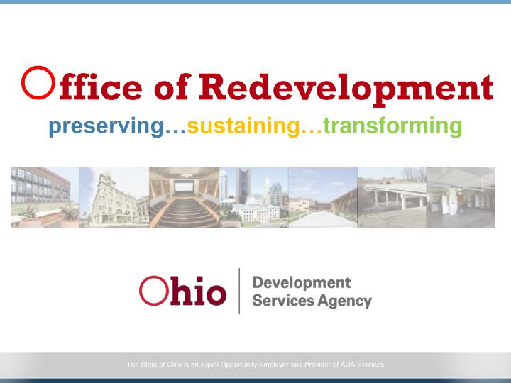 Ffice of redevelopment