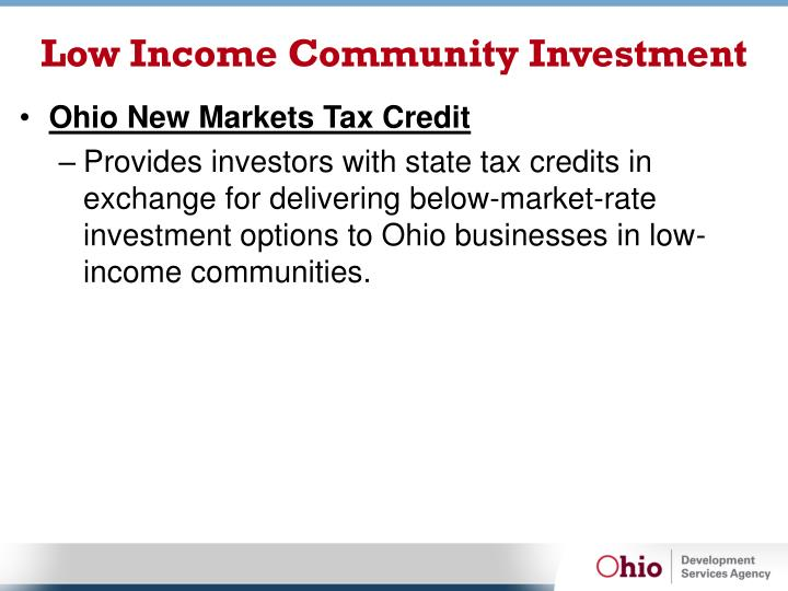 Low Income Community Investment