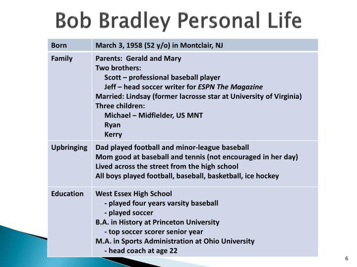 Bob Bradley Personal Life