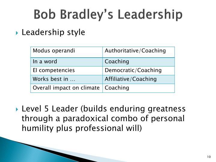 Bob Bradley's Leadership