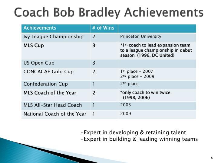 Coach Bob Bradley Achievements