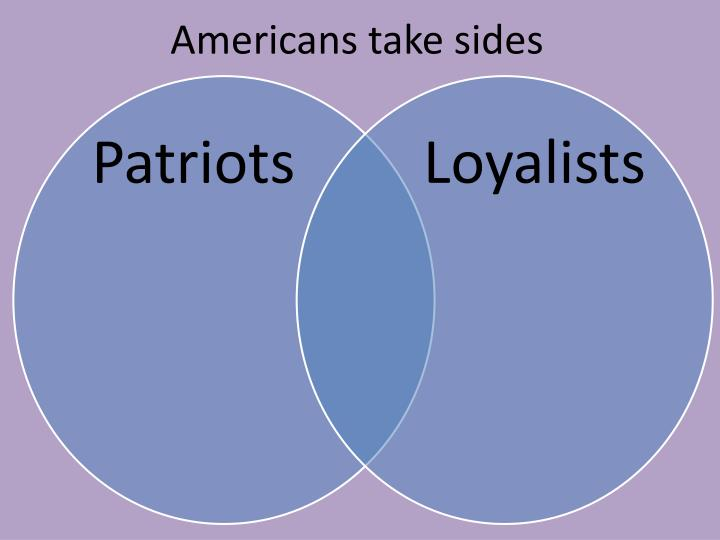 Americans take sides