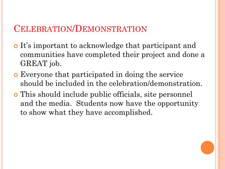 Celebration/Demonstration