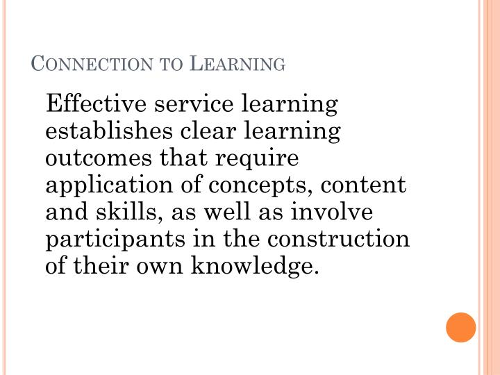 Connection to Learning