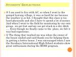 students reflections