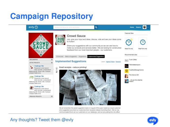 Campaign Repository