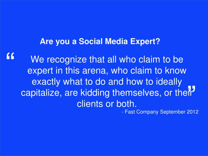 Are you a Social Media Expert?