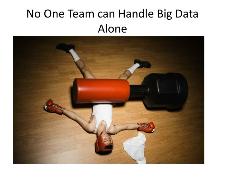 No One Team can Handle Big Data Alone