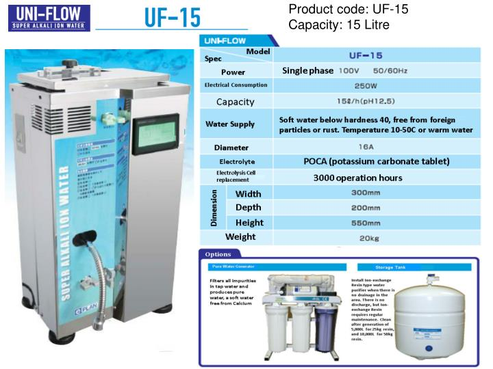 Product code: UF-15