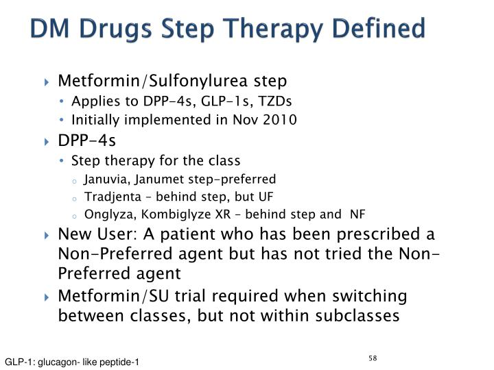 DM Drugs Step Therapy Defined